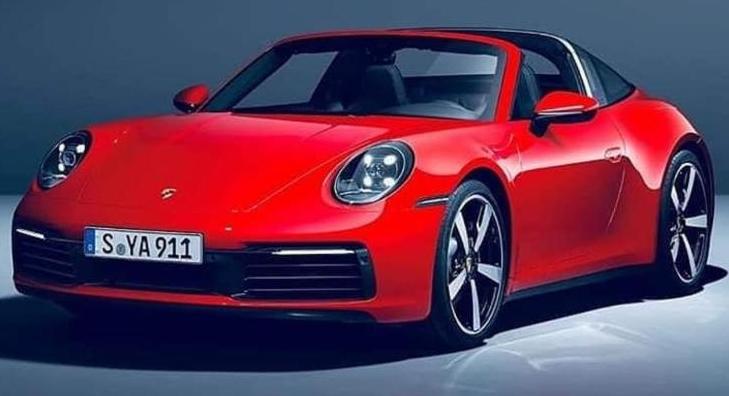经典设计 全新保时捷911 Targa车型官图泄露