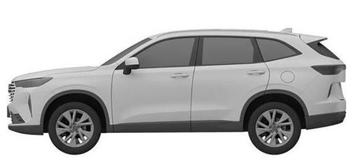 或为全新哈弗H6 哈弗全新SUV车型专利图