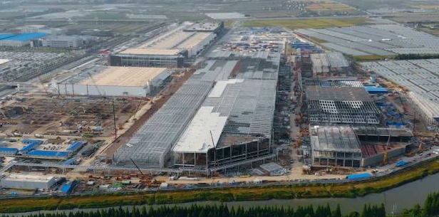 Model Y或年底量产 上海工厂二期工程封顶