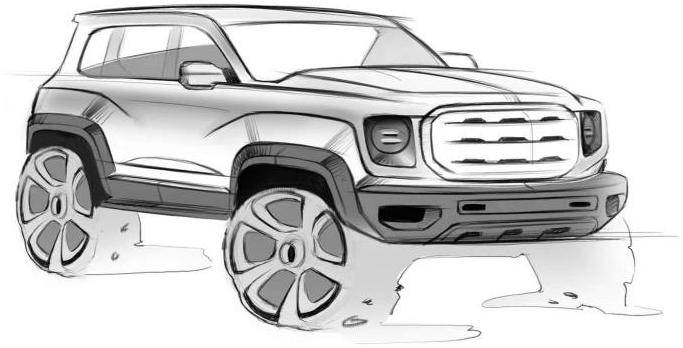 走硬朗路线 曝哈弗全新SUV设计手稿