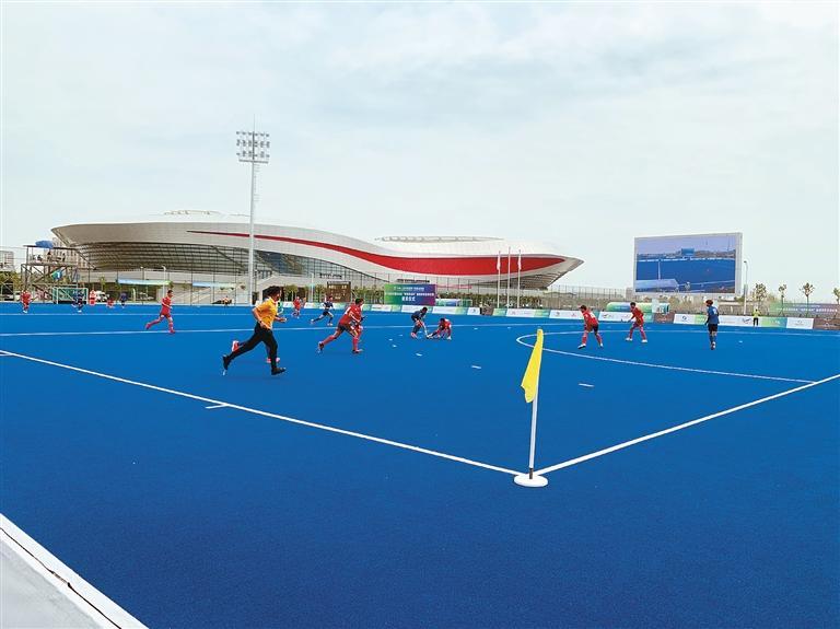 第十四届全运会曲棍球项目测试赛在西安开赛 比赛为期3天